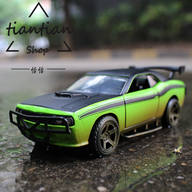 1 32 Alloy Car Model Fast Furious Dodge Challenger Srt8 The Door Can Be