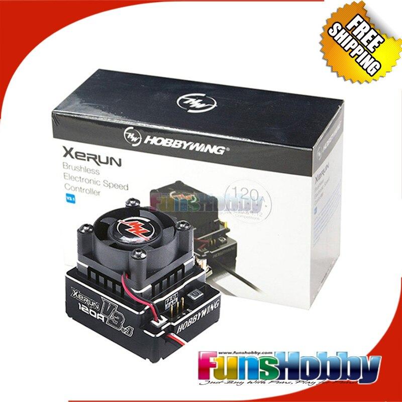 все цены на Hobbywing XERUN V3.1 Sensored 120A Brushless Car ESC(XERUN-V3.1 Black) онлайн