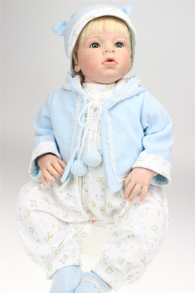 NPK 70cm Silicone Reborn Baby Doll Real Baby Reborn Doll Baby Clothing Model Bebe Boy Reborn Bonecas