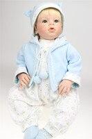 Npk 70 см силикона Reborn Baby Doll настоящий ребенок возрождается куклы ребенка Костюмы модель Bebe Boy Reborn bonecas