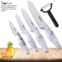 Kitchen Knife set Ceramic Knife set 3 4 5 6 inch Zirconia Ceramic white Blade Cooking Paring Fruit Chef Knives