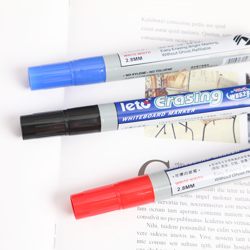 1 pcs High quality felt marker pen black red blue erasable Whiteboard pen writing point 2.8mm for Office school
