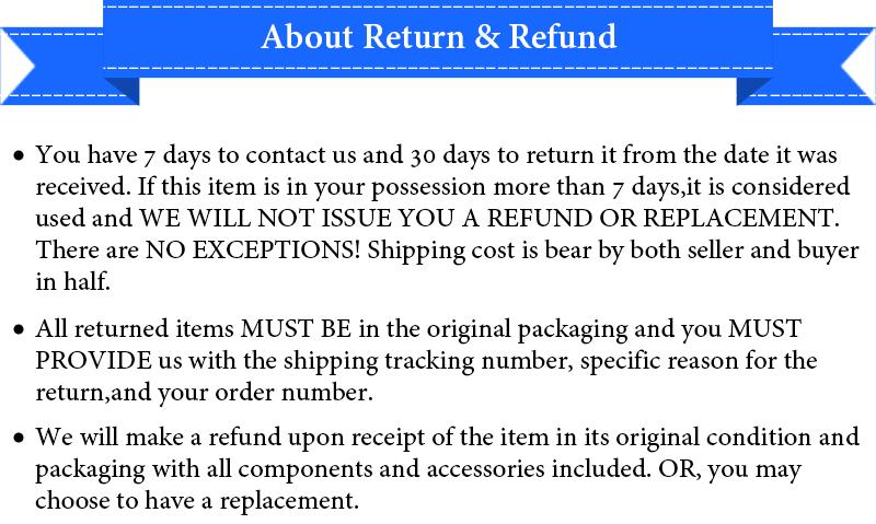 About Return and Refund