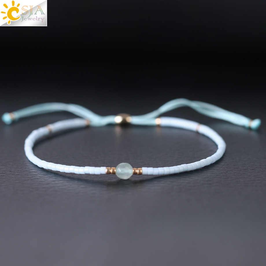 be4fc8f52 ... CSJA 1 Pc Japanese Miyuki Beads Bracelets Pulseira Feminina Lucky  Popular Handmade Rope Chain Mini Bead ...