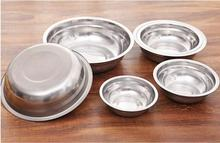 1PC New 6 Size Stainless Steel Soup Bowls Multi-function Round Pot Palte Dishes Kitchen Tools  LF 133