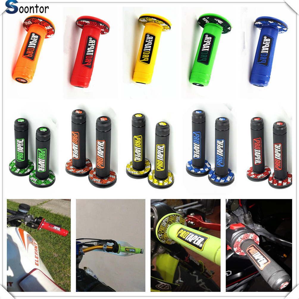 Handle Grip Motorcycle Dirt Pit Bike Rubber Gel Hand Grips FOR Kawasaki KX65 KX80 85 KX125 KX250 KX250F KX450F   KDX125250