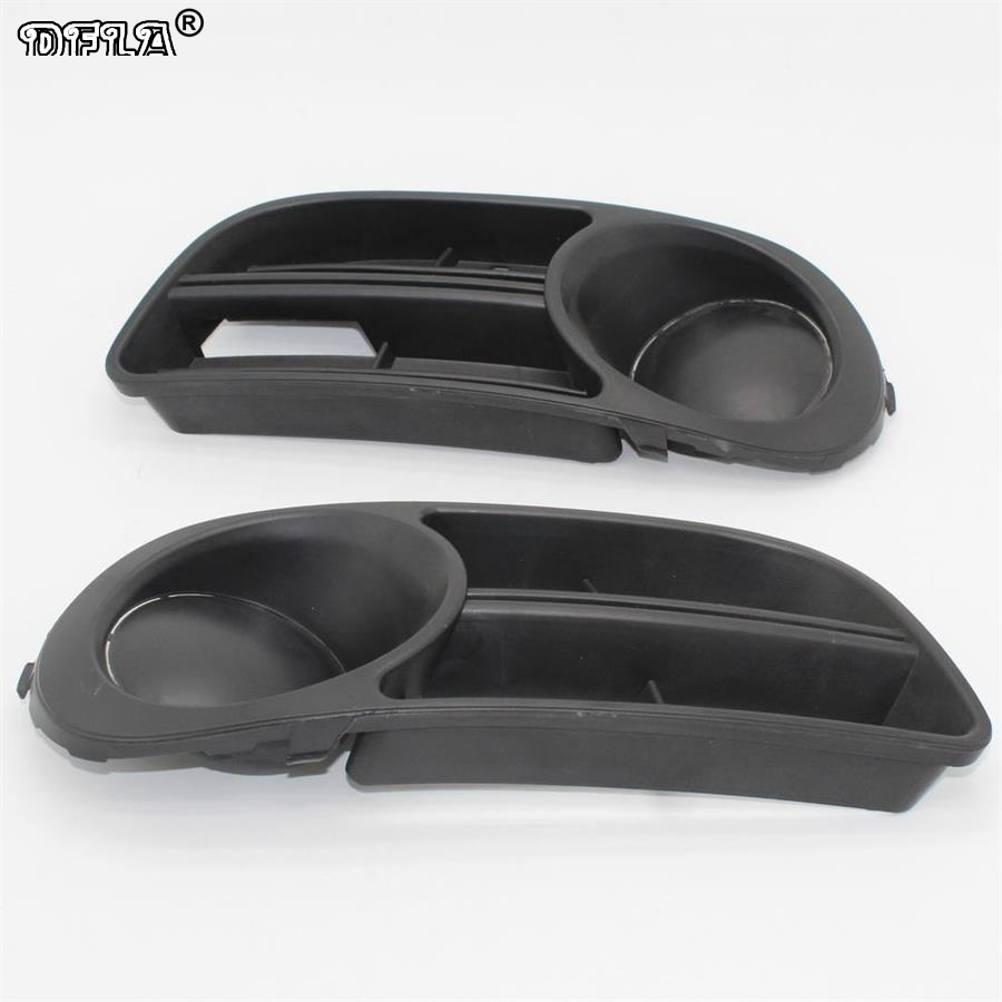 2pcs For Skoda Fabia MK1 Facelift 2005 2006 2007 2008 Car-Styling Fog Light Fog Lamp Grille Cover Without Fog Lamp Hole