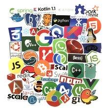50 Pcs 프로그래밍 스티커 Java JS Php Docker Bitcoin Html 클라우드 언어 APP 로고 재미 있은 스티커 노트북 자동차 DIY 스티커