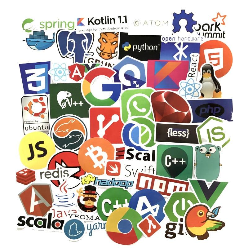 102 Stücke Internet Programmierung Aufkleber Wissenschaft Js Php C Sprache Wolke Docker Entwickler Aufkleber Für Diy Laptop Telefon Auto Sammeln & Seltenes