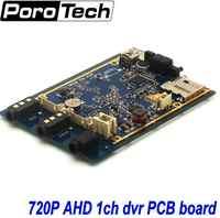 OEM 5 uds 1Ch Mini AHD 720P DVR PCB tablero coche/autobús/hogar utilizado 1 canal CCTV DVR detección de movimiento con cámara de coche/CCTV en tiempo Real