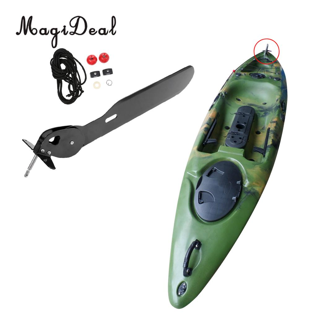 Aluminum Alloy Ocean Kayak Rudder Foot Control Direction Kit Sailing Boat Parts Hardware with Steering System for Kayaking Canoe rc boat fsr v15 stainless steel rudder aluminum alloy seat full immersion steering wheel rudder for brushless electric boat