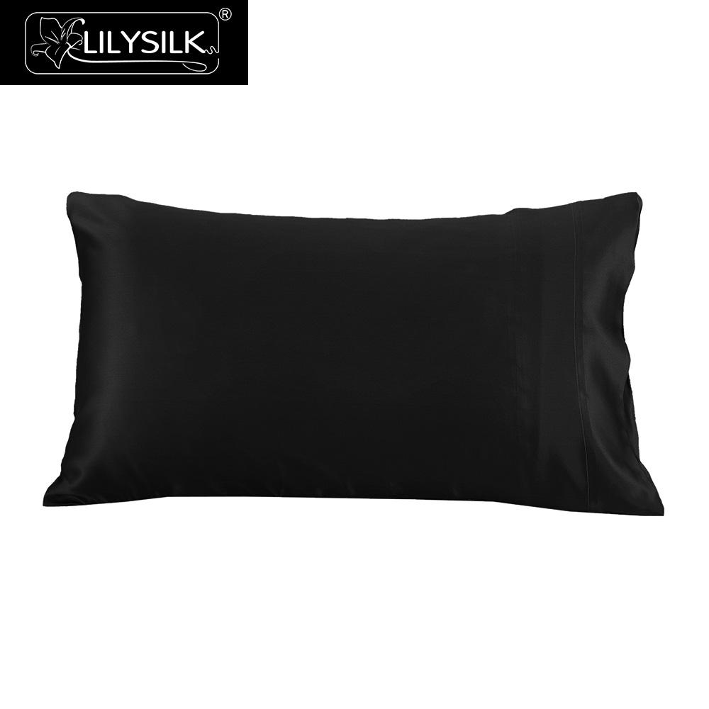 LilySilk Pillowcase Silk Pure 100 Natural for Hair Luxury Terse 25 Momme Mulberry 40x40 50x90cm 50x50