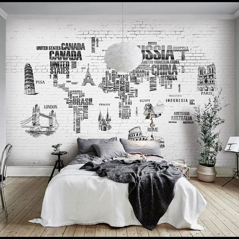 Buy world map wall murals and get free shipping on aliexpress gumiabroncs Choice Image