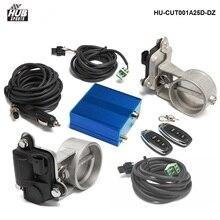 Kontrola Zaworu Wydechowego Hubsports (E.V.C) Podwójny Zestaw + Sterowanie Elektryczne Box Dla Catback Wydechowy Rura Spustowa HU-CUT001A25D-DZ