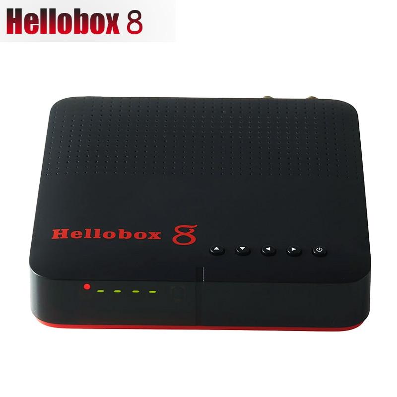 New Hellobox 8 Receiver Satellite DVB-T2 DVB S2 Combo TV Box Tuner Support TV Play On Phone Satellite TV Receiver Support  CCCAM