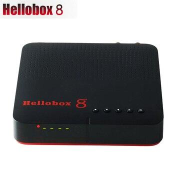 New Hellobox 8 receiver satellite DVB-T2 DVB S2 Combo TV Box Tuner Support TV Play On Phone Satellite TV Receiver DVB S2X H.265