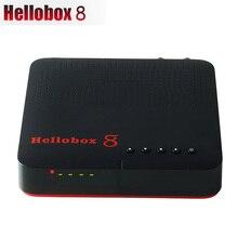 Novo hellobox 8 receptor satélite DVB T2 dvb s2 combinação caixa de tv sintonizador suporte tv jogar no telefone receptor tv satélite dvb s2x h.265