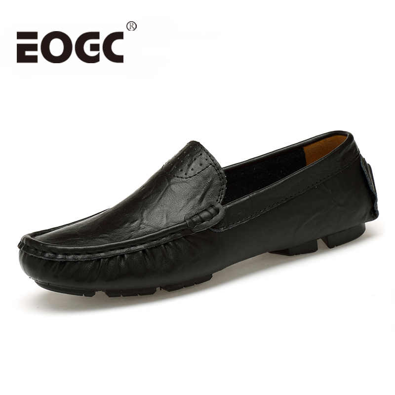 Men's Casual Shoes British Style Moccasins Genuine Leather Flats - Men's Shoes