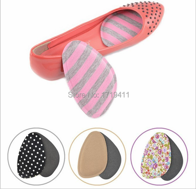 2Pairs Fabric Faced Gel Silicone Shoe Half pads Insoles women's high heel Cushion Protect Comfy Feet Palm Care Pads accessories