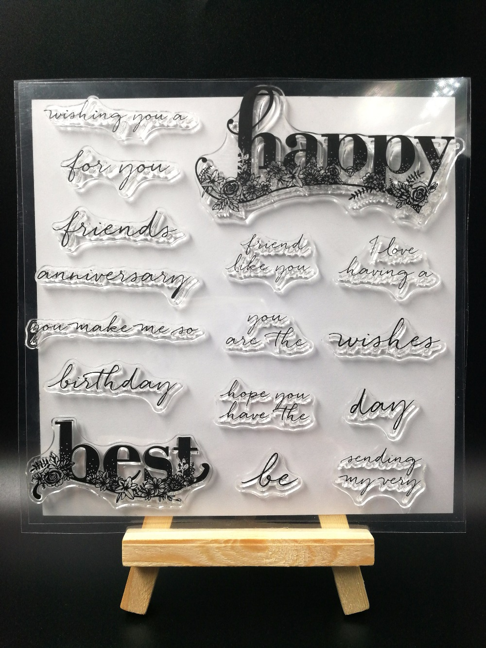 HAPPY BEST  Transparent Clear Silicone Stamp/Seal for DIY scrapbooking/photo album Decorative clear stamp sheets H128