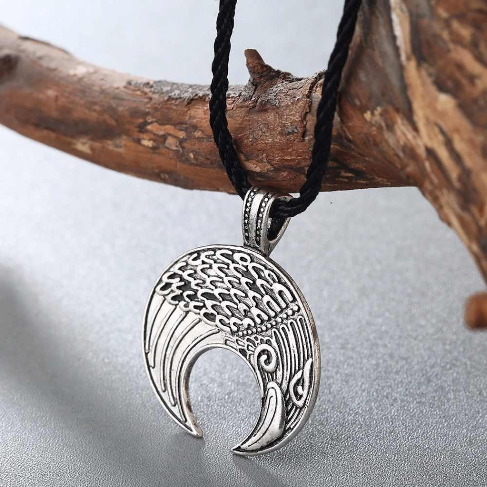 CHENGXUN Retro Animal colgante Cuervo collar hombres vikingo amuleto Norse Slavic joyería Vintage encanto Collar para mejores amigos