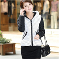 2015 New Fashion Warm Winter Jacket Women Thick Polka Dot winter coat women Medium-long Duck Down Parkas outerwear A024