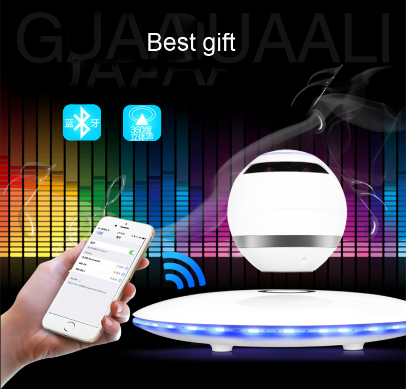 New Arrival !!!!! Wblue WB-46 maglev Colorful speaker intelligent wireless bluetooth mini portable Best Creative Gift stereo new arrival wblue wb 46 maglev colorful speaker intelligent wireless bluetooth mini portable best creative gift stereo