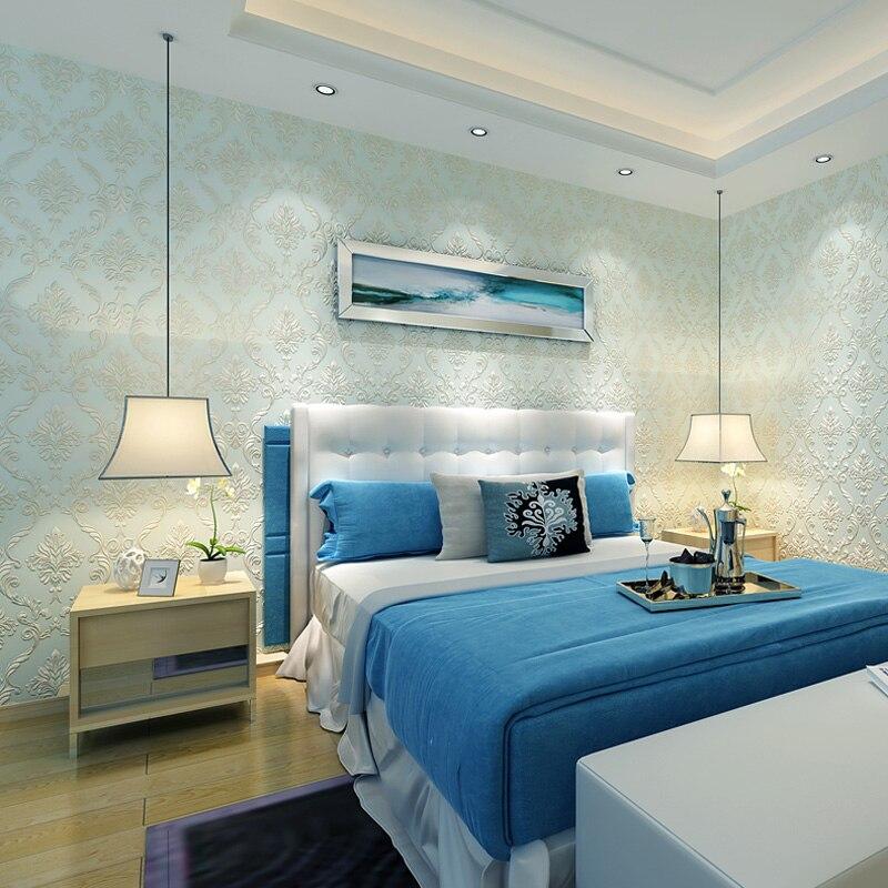 Купить с кэшбэком Relief European Luxury Embossed Non Woven Texture 3D Damask Wallpaper Non Woven Wall Paper Roll For Living Room Bedroom Walls