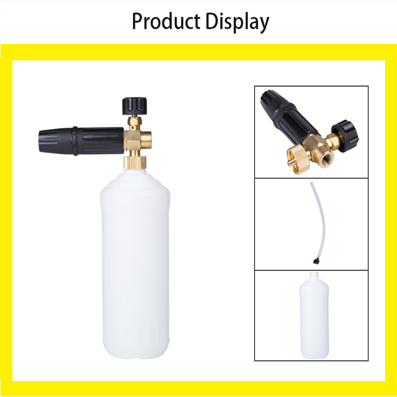 City Wolf car washer foam cannon snow foam lance soap bottle without adaptor suit for all kinds of high pressure washers