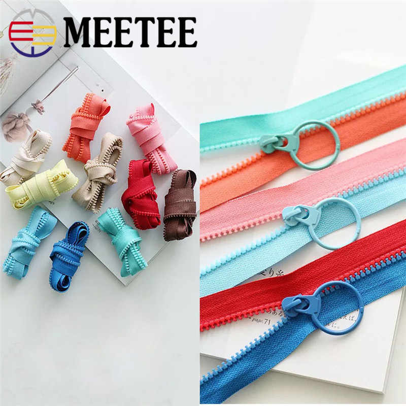 10Yards 3 # Meetee Offene Harz Zipper Einseitige Zipper Slider Pull DIY Tailor Bekleidungs Taschen Hand Nähen Handwerk Werkzeuge zubehör