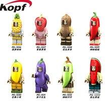 Egyszeri eladó szuperhősök Egyedi figurák Ananász Mango bors Peanut Fruit álcázott építőelemek Gyermek Ajándék játékok PG8113