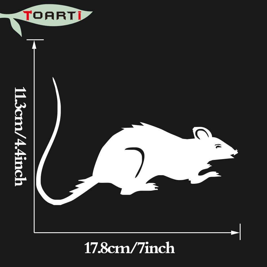 Rato animal etiqueta do carro decalque de vinil auto adesivo automóveis capa janela portátil decorativo estilo do carro à prova dwaterproof água automóvel