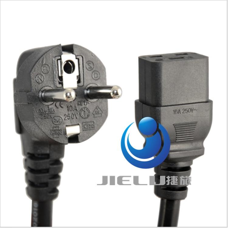 European Schuko to C19 AC Power Cord ,EU 3pin Male Plug CEE 7/7R to IEC320 C19 Female Socket Power Adapter Cable,50 pcs wa0089 iec320 c20 to c14 adapter c13 to c19 ac plug converter ac converter pdu ups plug converter wpt605