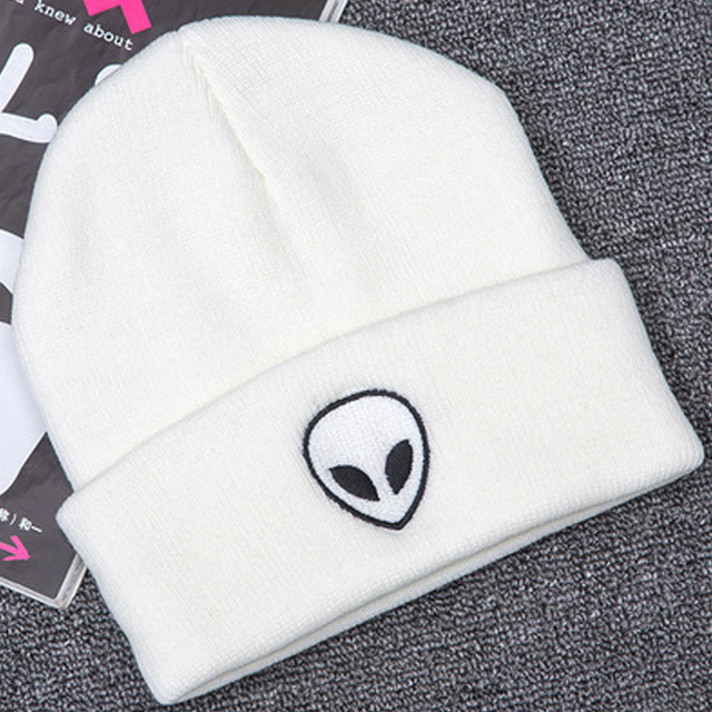 Chapeau Alien brodé pour hommes et femmes   Offre spéciale, bonnets De manchette, doux et solides, bonnets Hip Hop unisexes, bonnets chauds tricotés, Gorros De Lana