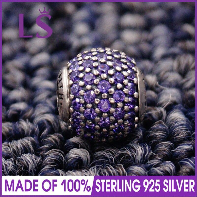 LS High Quality 100% S925 Silver Essence Faith Charm Beads Fit Original Essence Bracelets Pulseira Essencia .100% Fine Jewlery