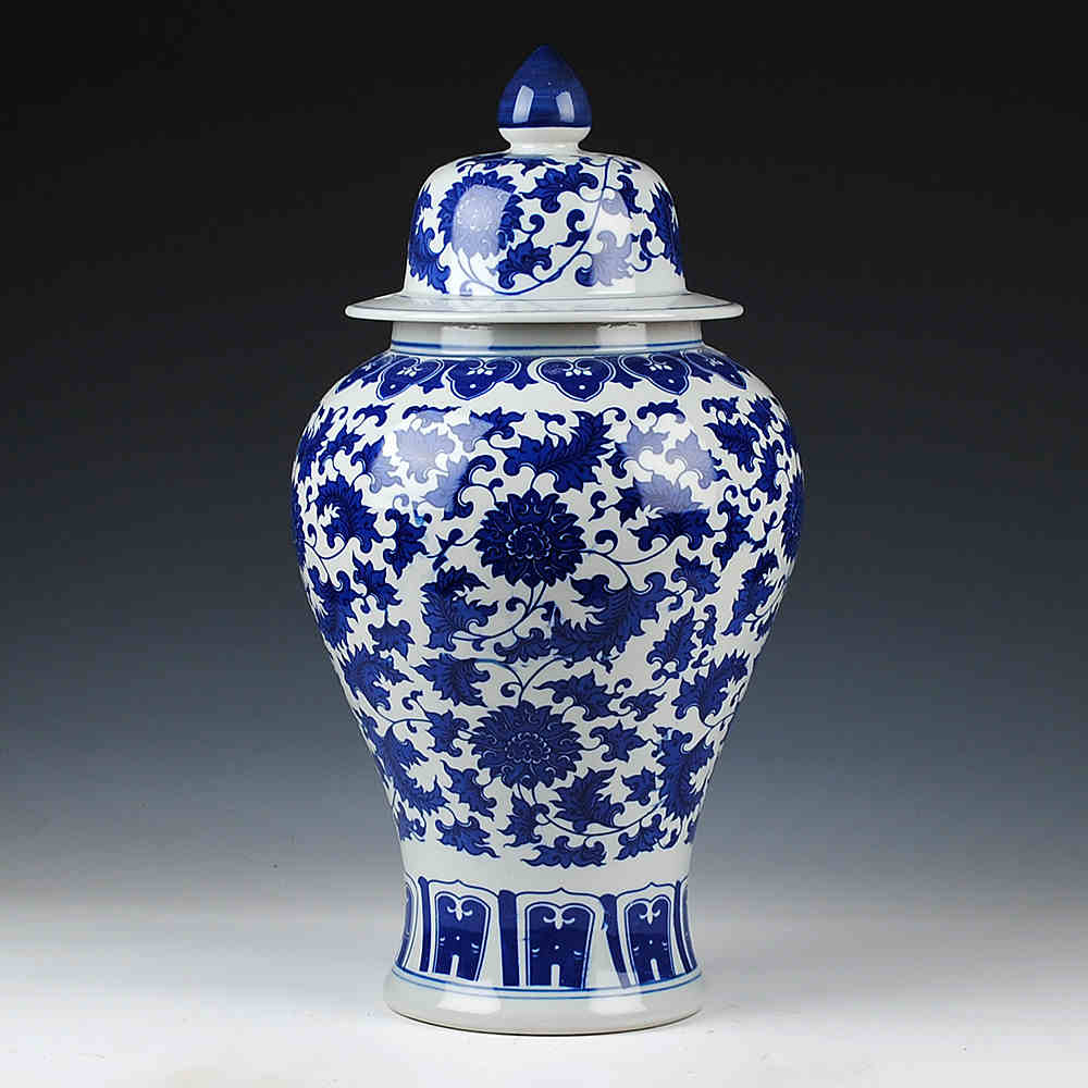 Jingdezhen Chinese Jar Antique Ceramic Blue And White