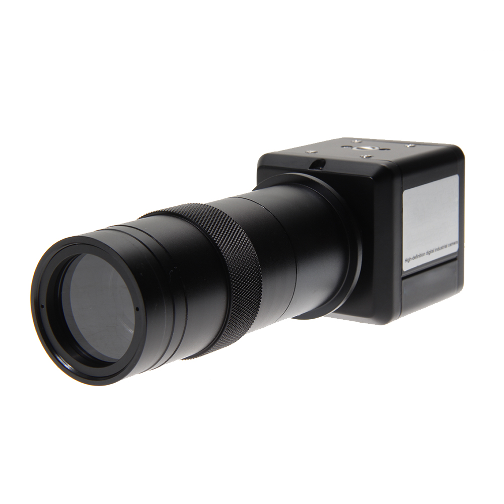 1Pcs BNC to AV Industrial Camera 100X Digital Video Zoom Monocular Lens Visual Inspection Microscope C Mount Lens