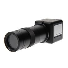 1 Unids BNC a AV Cámara Industrial 100X Zoom de Vídeo Digital Monocular Microscopio de Inspección Visual de la Lente C Montaje Lente OD # S