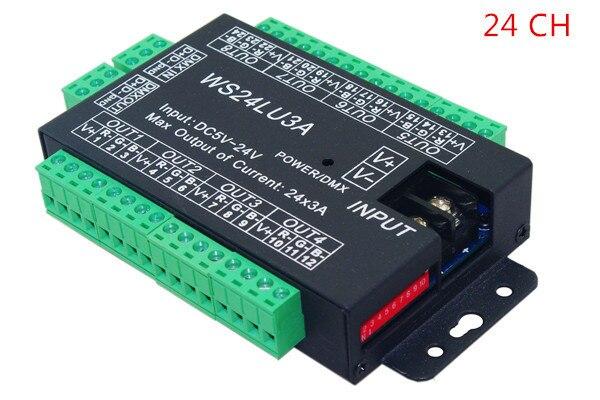 best price 1 pcs 24 channel 8 group dmx 512 led decoder use for led strip