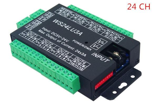 Best Price 1 Pcs 24 Channel 8 Group Dmx 512 Led Decoder Use For Led Strip Light