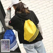 Outdoor Use Water-Proof Nylon Backpack Multi Color Available Travelling With Net Laptop Bag Multi-function Drawstring Gym