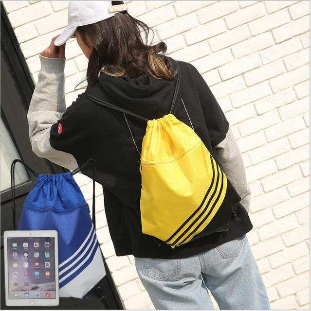 77417728c67c Aliexpress.com : Buy Outdoor Use Water Proof Nylon Backpack Multi Color  Available Travelling With Net Laptop Bag Multi function Drawstring Gym Bag  ...