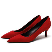 Hot Sale Design New Women Top Quality Genuine Kid Suede Leather Classic Fashion Pumps Concise Casual Woman Spring Shoes F0066 цена 2017