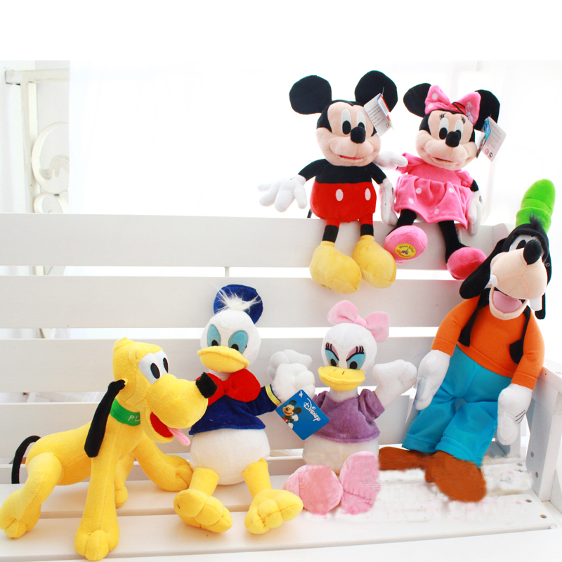 цена на Kawaii Mickey Mouse Minnie Mouse Plush Toys Donald Duck Daisy Duck Plush Toys and Goofy Pluto Plush Children Toys