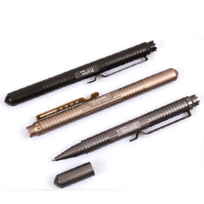 Auto Self Defense personal Tactical Pen Ball Supplies security EDC Tool Aviation Aluminum Life saving black/grey/gold oumily aircraft grade aluminum alloy tactical defense writing pen w white led light rose red