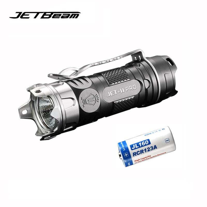 Original JETBEAM II PRO Mini LED Flashlight CREE XP-L HI LED 510 lumens Portable Flashlight with 1*16340 Battery