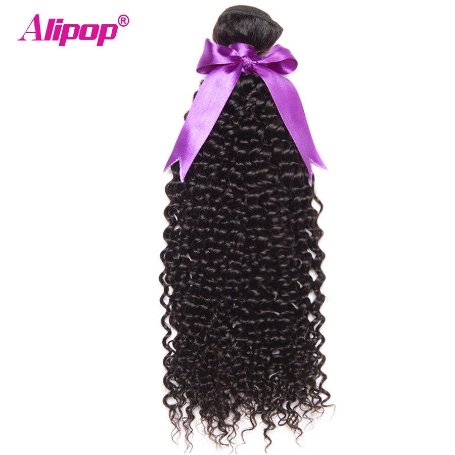 Curly Weave Human Hair Bundles Brazilian Kinky Curly Hair Bundles Brazilian Hair Weave Bundles ALIPOP Human Hair Extensions 1PC