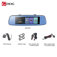 Gdog E06 4G Car DVR 7.84″ Touch ADAS Remote Monitor Rear view mirror with DVR and camera Android Dual lens 1080P WIFI dashcam