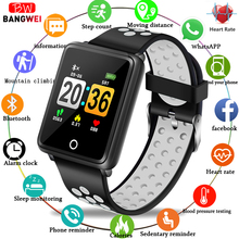 BANGWEI 2019 Smart Watch Men Fitness Tracker Blood pressure IP68 Waterproof Activity Women Smartwatch For ios Android