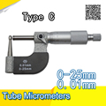 Тип C 0-25 мм толщина стенки микрометр  толщина стенки трубы микрометр  микрометр трубки бренд xibei